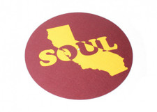 Cali Soul - Maroon / Yellow - Single Slipmat