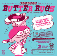 "Butter Rugs 7"" - Black - 7"" Slipmats (Pair)"