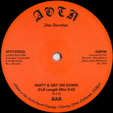 "BAB - Party & Get On Down - 12"" Vinyl"