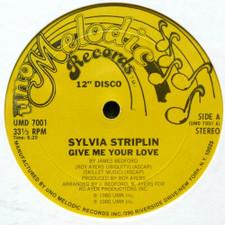 "Sylvia Striplin - Give Me Your Love - 12"" Vinyl"