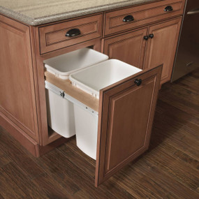 Top Mount Wastebasket (Double)