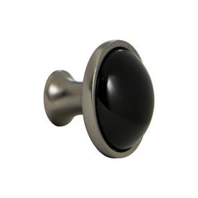 Black Ceramic Insert Round Knob