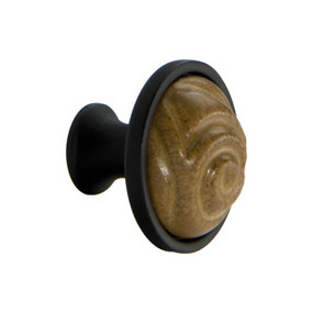 Ochre Finished Ceramic Totem Knob