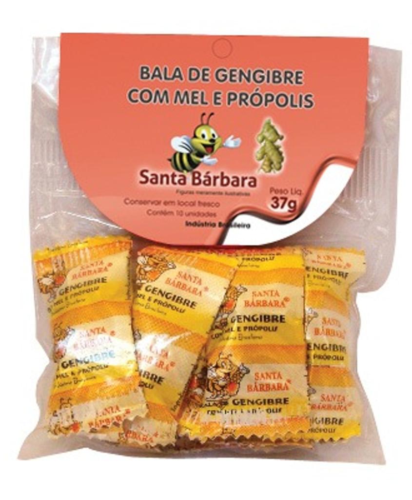 Bala de Gengibre 10 unidades - Santa Barbara