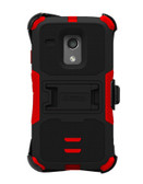 Buy Beyond Cell Tri-Shield Kombo Case For Motorola Moto G XT1032 (Black/Red) with Free Shipping from www.creekle.com