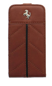 Buy Ferrari Leather Flap Case for Apple iPhone 4s/4 (Brown) with Free Shipping from www.creekle.com