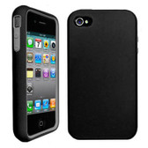 Buy Decoro Premium Hybrid Snap On Case for Apple iPhone 4/4S (Black/Gray) with Free Shipping from www.creekle.com