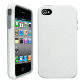 Buy Decoro Premium Hybrid Snap On Case for Apple iPhone 4/4S (White/Gray) with Free Shipping from www.creekle.com