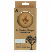 Qi Wireless Charger Natural Bamboo Wood Pad, w/ Wireless Android Universal Kit