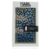Karl Lagerfeld Leopard Camouflage Hard Case for iPhone  6 / 6s - Blue