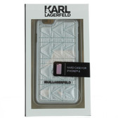 Karl Lagerfeld Quilted Hard Case iPhone 6 / 6s - Silver