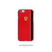 Ferrari Scuderia Glossy Carbon Fiber Plate Hard Case for iPhone 6 / 6s - Red