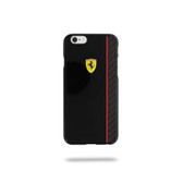 Ferrari Scuderia Glossy Carbon Fiber Plate Hard Case for iPhone 6 Plus / 6s Plus - Black