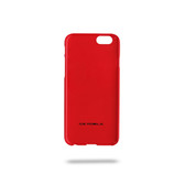 Ferrari Scuderia Gossy Carbon Fiber Bottom Hard Case for iPhone 6 / 6s - Red