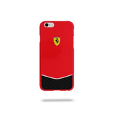 Ferrari Scuderia Gossy Carbon Fiber Bottom Hard Case for iPhone 6 Plus / 6s Plus - Red