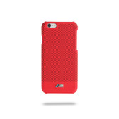BMW M Embossed Line Perforated Hard Case for iPhone 6 / 6S Plus - Red