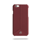 Mercedes-Benz Pure Line Genuine Leather Perforated Leather Hard Case for iPhone 6 / 6s Plus  - Red
