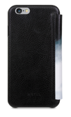 STIL Fashion Cosmos White Black Italian Leather Case with Card Slots for iPhone 6 / 6s