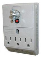 DTK-3GTP DITEK Three Outlet Wall-Mount Surge Protector - Qty. 1
