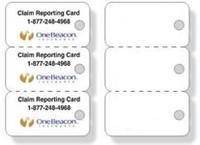 Q68 Key Tag PVC Cards 3 Tags/Card - Qty. 1000