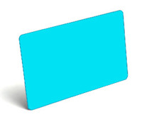 Lt. Blue Blank PVC Cards