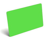 Fluorescent Green Blank PVC Cards