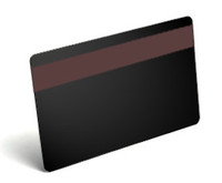 C5203 Blank PVC Black Rewritable Card with HICO Mag Strip 30 Mil - Qty. 100