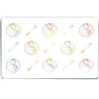 104524-120 Zebra® PVC Cards World Globe Embedded Hologram - Qty. 500