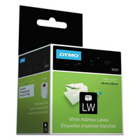 "30251 Dymo 1.125"" X 3.5"" White Address Label, 130 Per Roll, 2 Rolls Per Box, Priced Per Box"