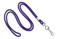"2135-3013 Purple Round 1/8"" Standard Lanyard W/ Nickel Plated Steel Swivel Hook - Qty. 100"