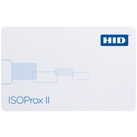 1386LGGSH HID ISOProx II Proximity Card with Sequential Non-Matching Numbering & Horizontal Slot - Qty. 100