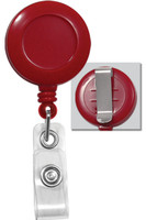 2120-3036 Red Badge Reel W/ Clear Vinyl Strap & Belt Clip - Qty. 100