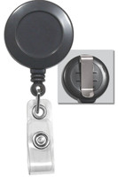 2120-3040 Gray Badge Reel W/ Clear Vinyl Strap & Belt Clip - Qty. 100