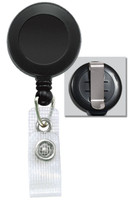 2120-3001 Black Badge Reel W/ Reinforced Vinyl Strap & Belt Clip - Qty 100