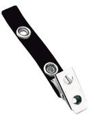 2105-2001 Black Vinyl Strap Clip W/ 2-hole NPS Clip - Qty. 100