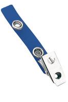 2105-2002 Blue Vinyl Strap Clip W/ 2-hole NPS Clip - Qty. 100