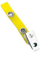 2105-2009 Yellow Vinyl Strap Clip W/ 2-hole NPS Clip - Qty. 100