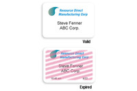 02015 Self-expiring Timejet Printable Frontpart One Day Expiration. - Pkg of 500