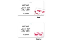 "04102 Thermal Printable Clip-on Badge, 2.125"" X 3.8125""w/ Expiring TIMEtoken Indicator - Half Day Or One Day - Pkg. of 1,000"