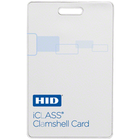 2080PMSMV HID iCLASS Clamshell Card, 2k Bit & 2 Apps, Programmed, HID Logo, External Numbering, Vertical Slot - Qty. 100