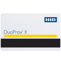 1536LGGMN HID DuoProx II Plain White (Composite 40% Polyester/PVC) Proximity Card with Magnetic Stripe, Matching Numbering & No Slot Punch - Qty. 100