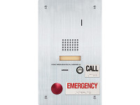 IS-SS-2RA-R Aiphone Flush Mount Audio Sub Station - Standard & Emergency Call Buttons