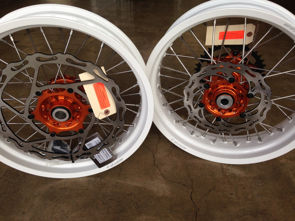 Warp 9 Supermoto Wheel Set