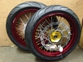 Warp 9 DR650 Supermoto Wheels with Tires