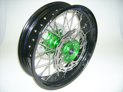 Warp 9 KLR650 Rear Supermoto Wheel