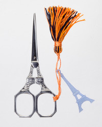 Eiffel tower scissor with blue tassel