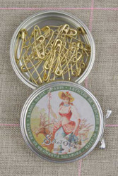 Metal Tins with Miniature Safety Pins