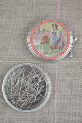 Metal Tins with Dressmaker's Pins No. 4 - 1 1/8""