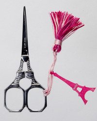 Eiffel Tower Scissors with Pink Tassel