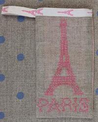 Sajou Paris - Eiffel Tower Pouch Kit - Pink